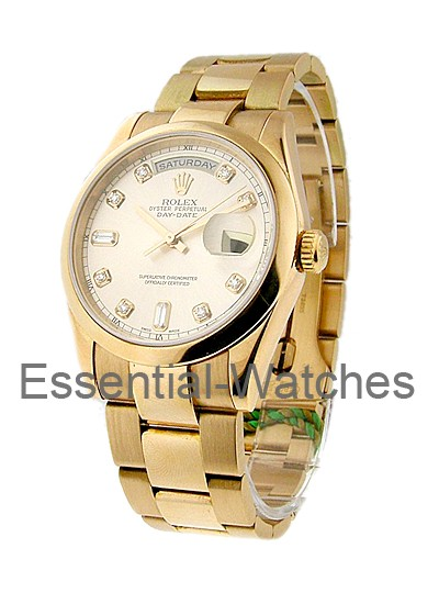 Rolex Used Men's Rose Gold Presidential with Oyster Bracelet 118235