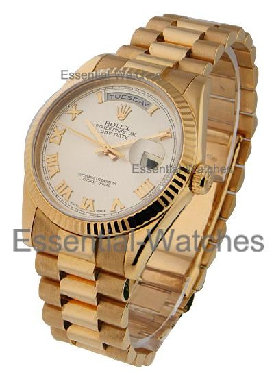Rolex Used Men's Rose Gold Day Date President - Rose Dial 118235