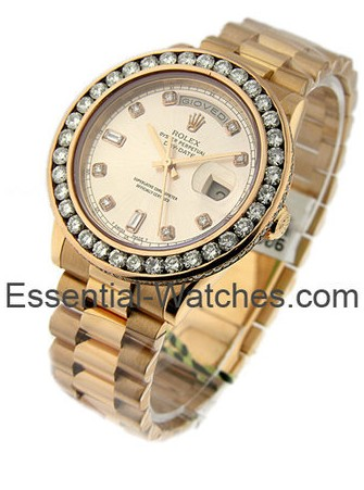 Rolex Used Rose Gold Men's President Day Date 118235